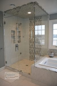 Bathroom design with tub and shower