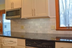 Kitchen design with granite countertop