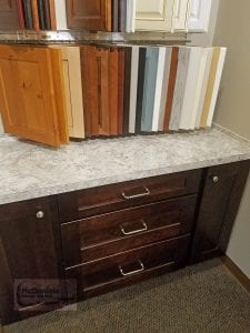 Showroom display with laminate countertop