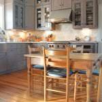 kitchen design with wood flooring