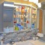 bathroom design with medicine cabinet