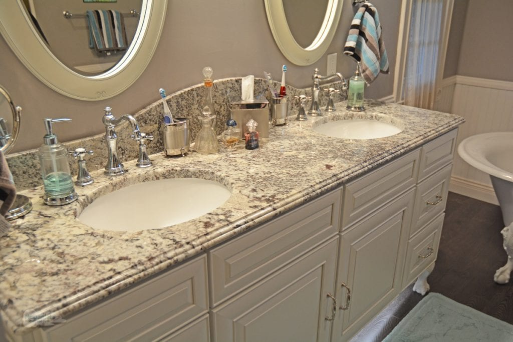vanity with undermount sinks