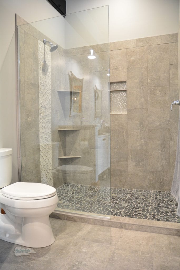 Shower design with storage