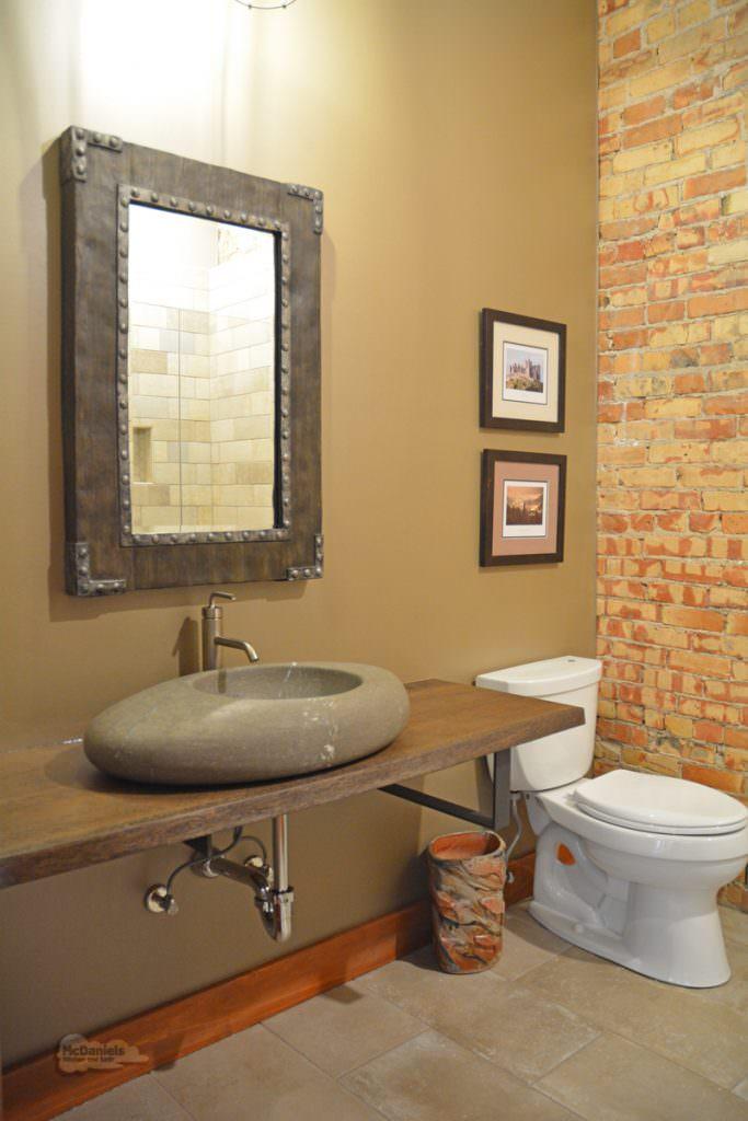 Bath design with natural materials