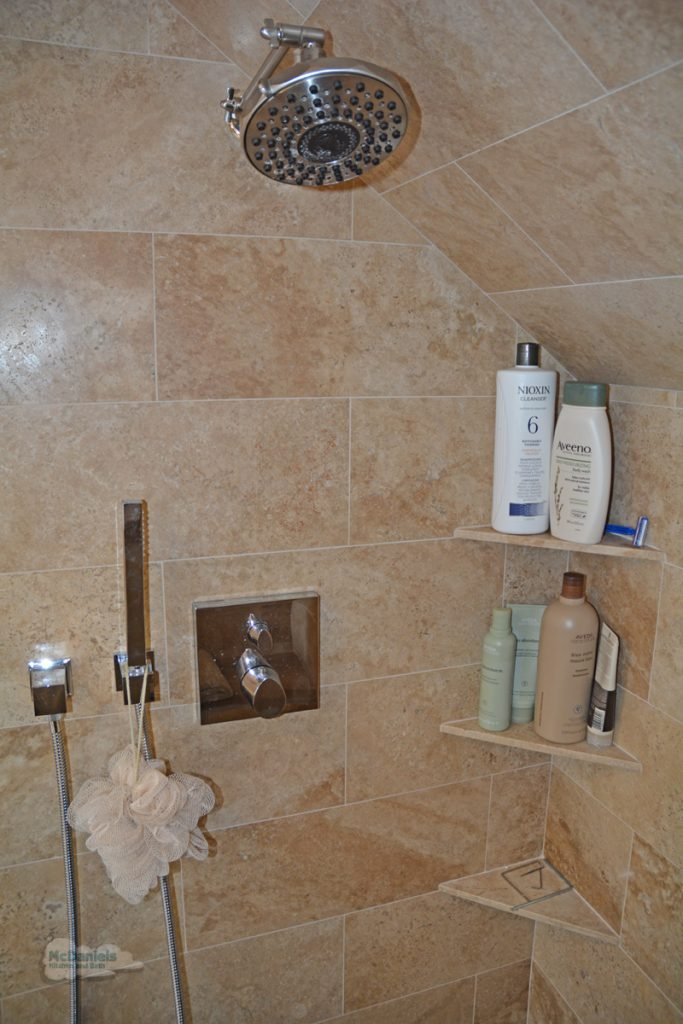 shower with rainfall showerhead