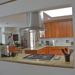 kitchen design with stainless hood