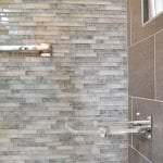 glass tile shower wall