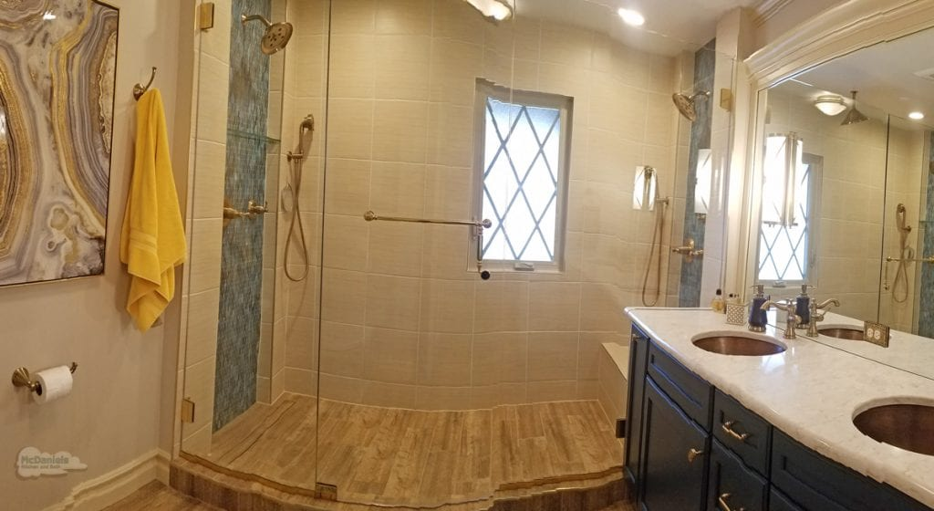 bathroom design with large shower