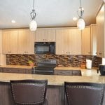 kitchen design with black appliances