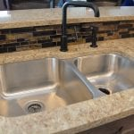 double bowl undermount sink