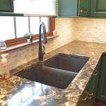 kitchen with e-granite sink