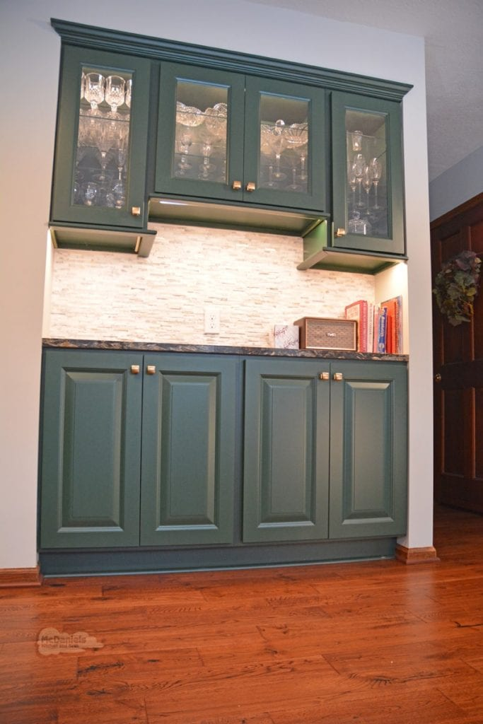 kitchen with built in buffet