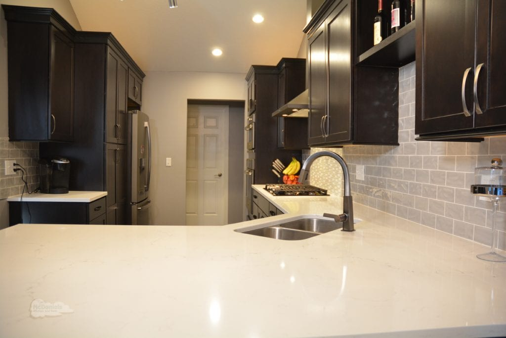 kitchen design with white countertop