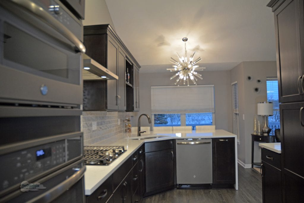 narrow kitchen design