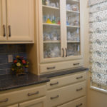 kitchen design with custom hutch