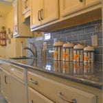 cream finish kitchen cabinets