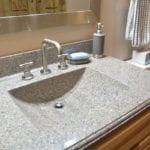 integrated sink and countertop
