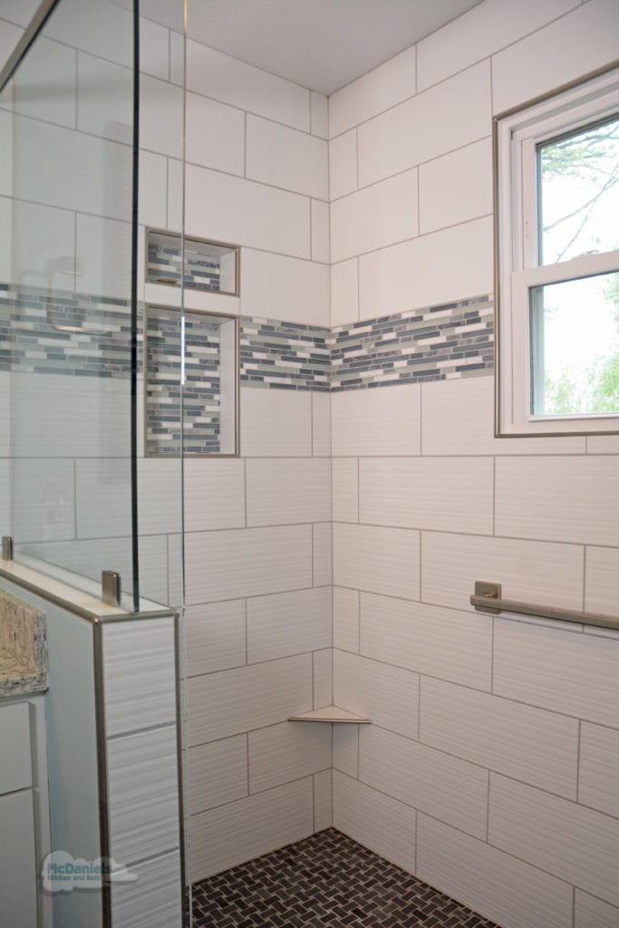 large walk in shower design