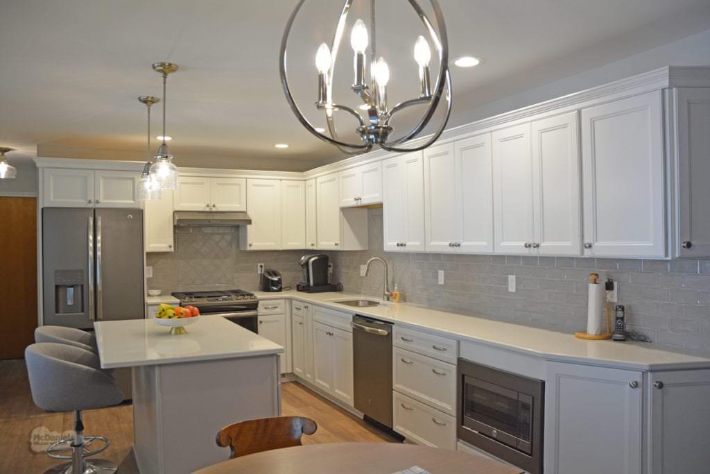 kitchen design with pendant lights