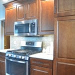 kitchen design with integrated microwave