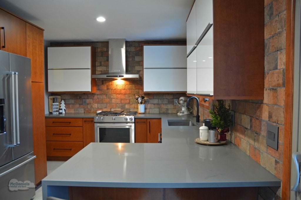 gray engineered quartz countertop