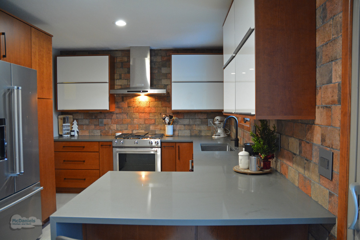 gray engineered quartz countertop