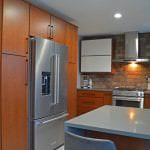 kitchen design with KitchenAid refrigerator