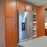 kitchen pantry with roll outs