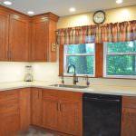 kitchen design with black dishwasher