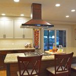 ceiling mounted kitchen island hood