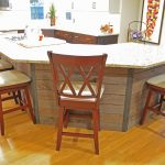 kitchen island with ship lap