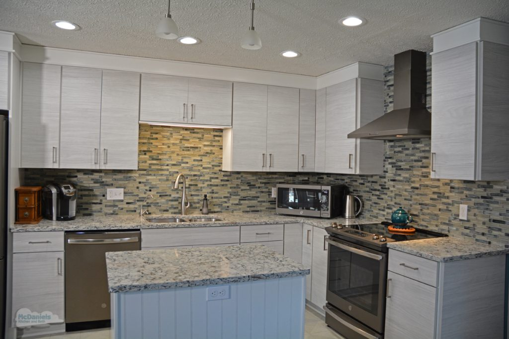 white slab cabinetry