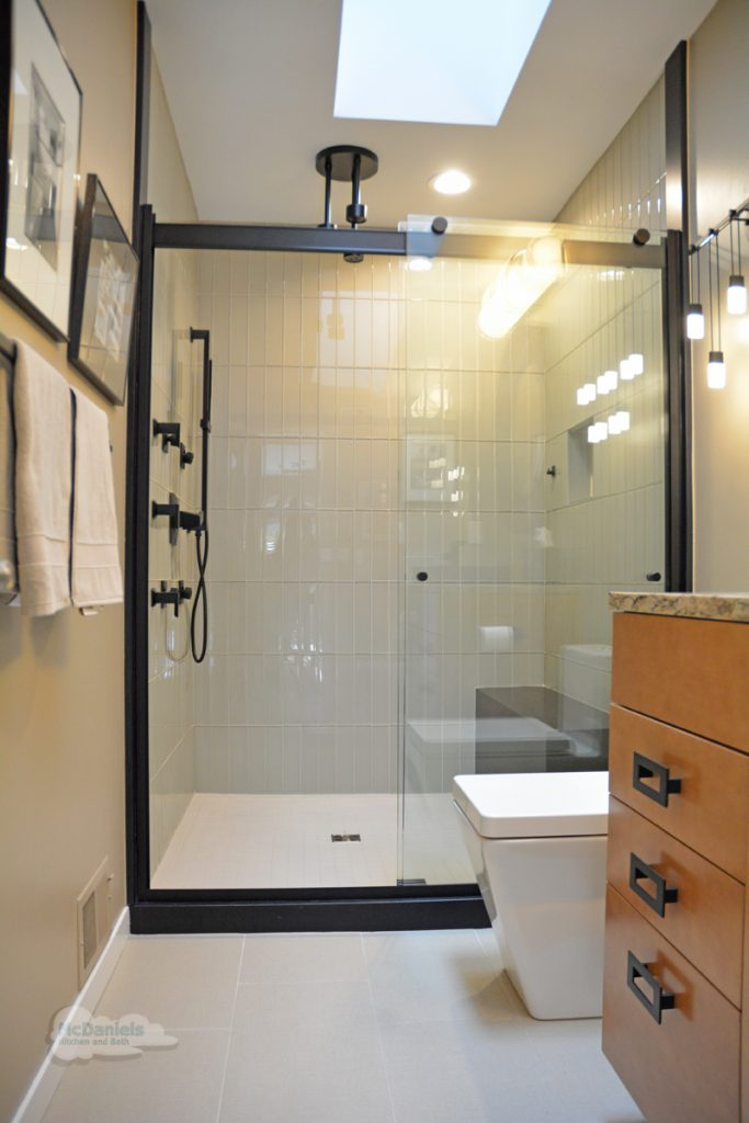 large alcove shower