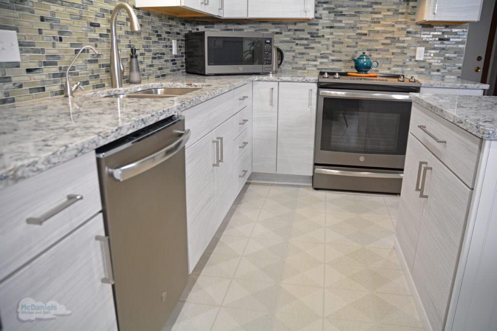 kitchen with vinyl floor