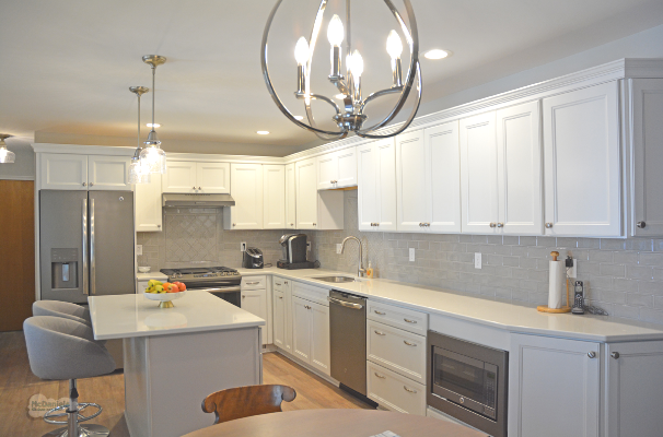 kitchen design with white cabinetry