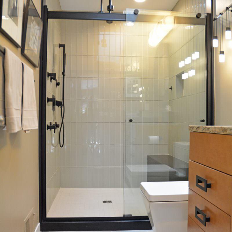 large alcove shower design