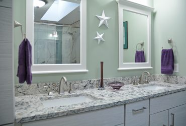 vanity with two sinks