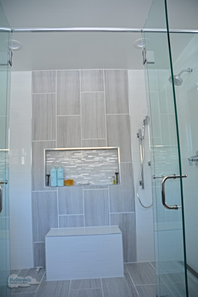 large curbless shower design