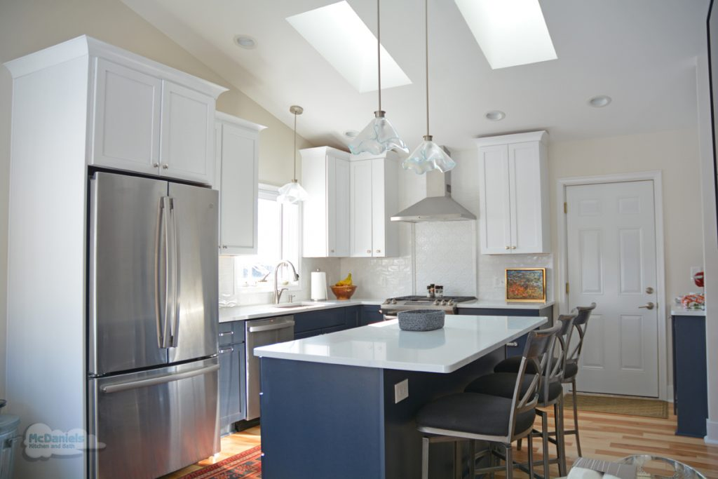 blue and white kitchen design