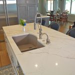 kitchen island with white countertop