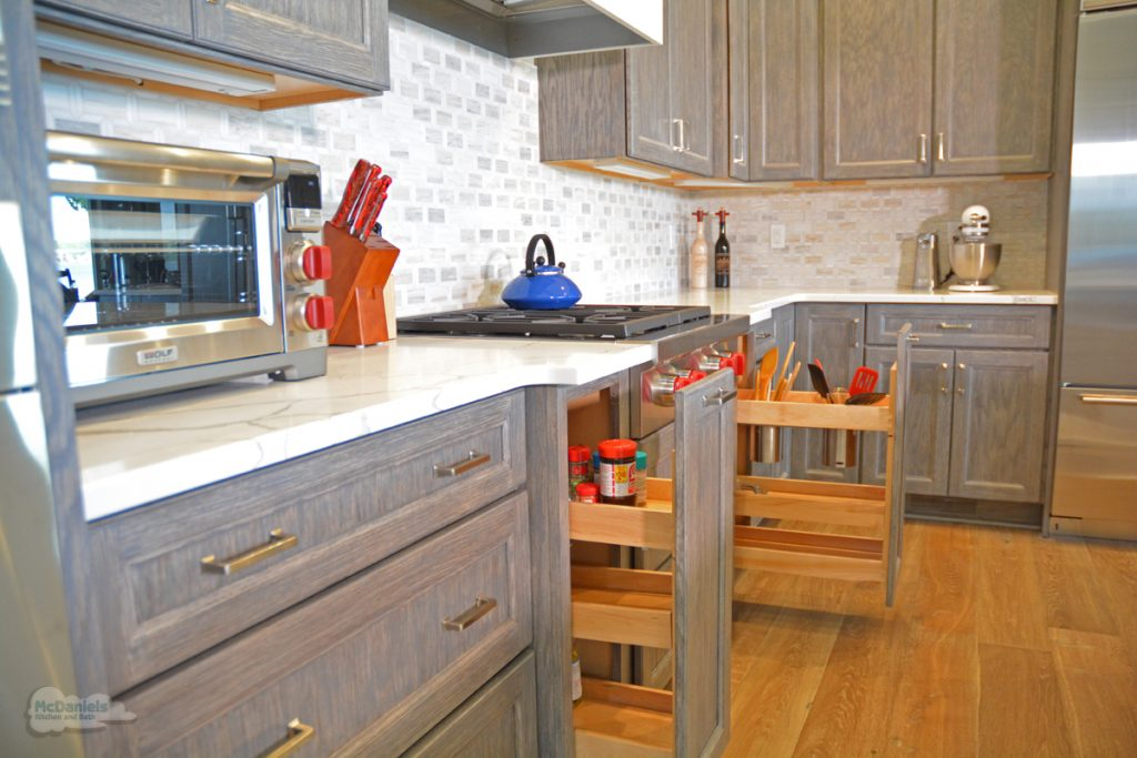 kitchen cabinets with pull out storage