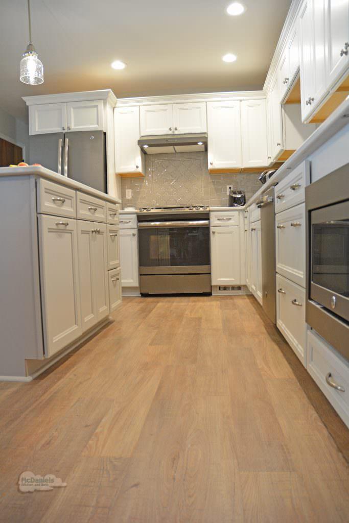 kitchen design with hardwood floor