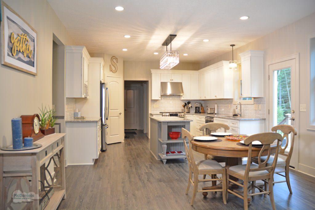 kitchen with luxury vinyl floor