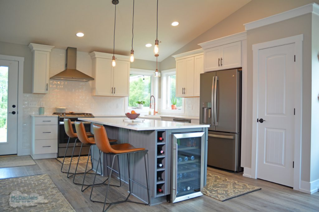 kitchen design with large island